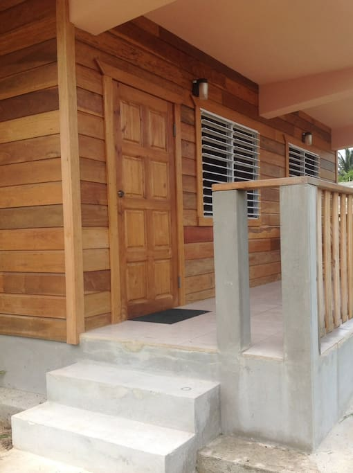 Entry to 1st floor unit.  The upper unit is the owners personal home.