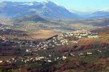 La Val di Comino vista da Vicalvi dal Falconiere