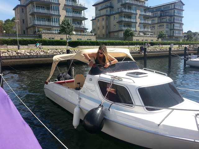 Boat cuddle nest with Fjord view - Schleswig
