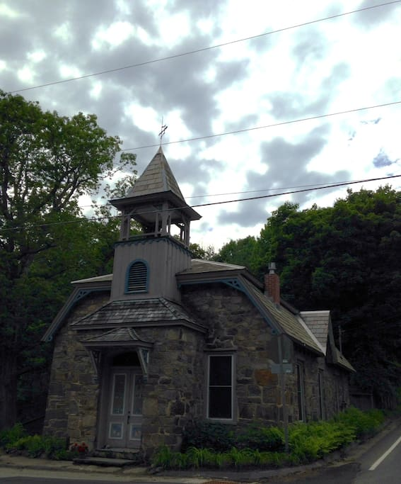 The Old Stone School House also has a working bell!