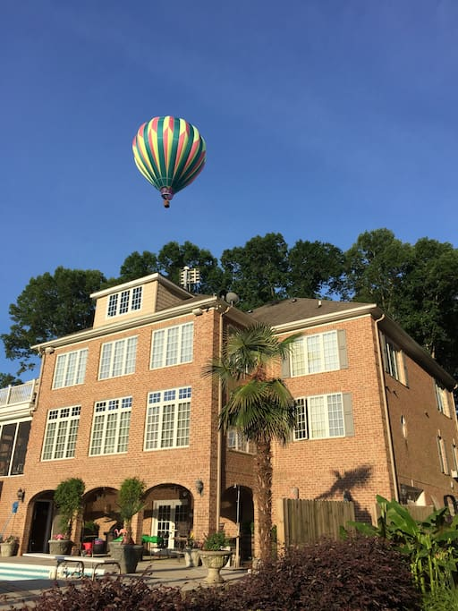Back with hot air balloon