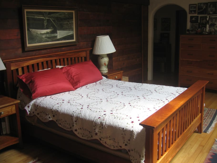 Cherry Arts and Crafts bed.