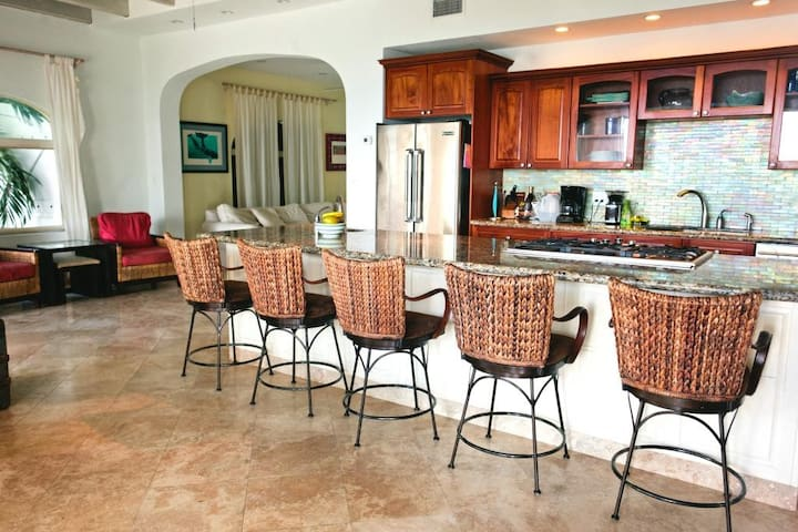 Three Palms Vacation Rental Great Room/Kitchen