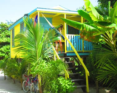 # 6 Cabana on prime sandy beach with private pier - Caye Caulker