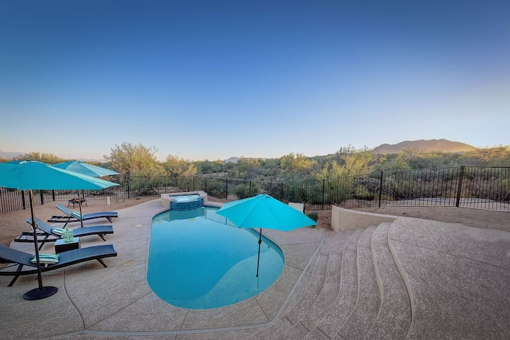 Rio Verde Foothills- Surrounded by desert landscape w/ pool, spa, & fire pit! - Scottsdale - Σπίτι