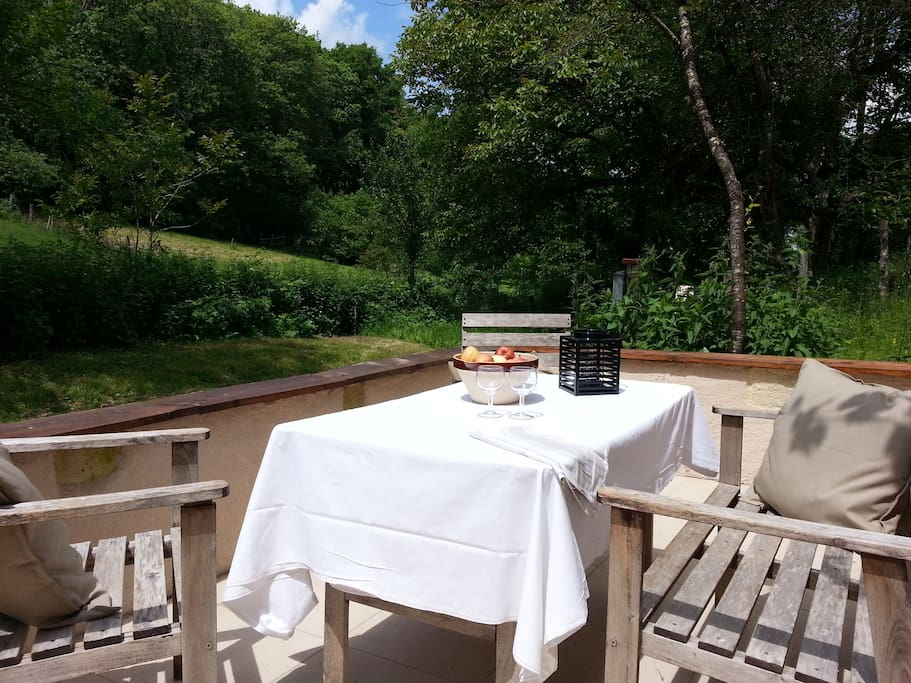 Une terrasse tournée vers la Nature