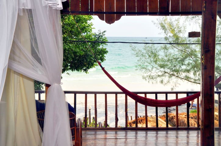 double bungalow on koh rong beach