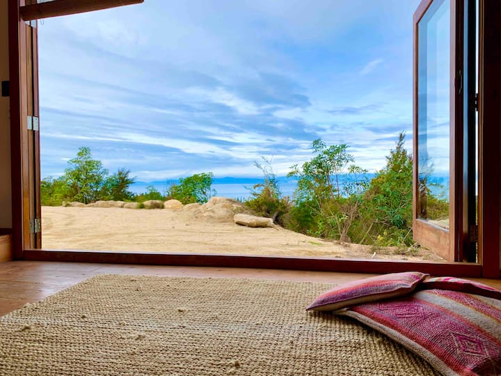 Endless views: Off Grid Kaiteriteri Tiny Home