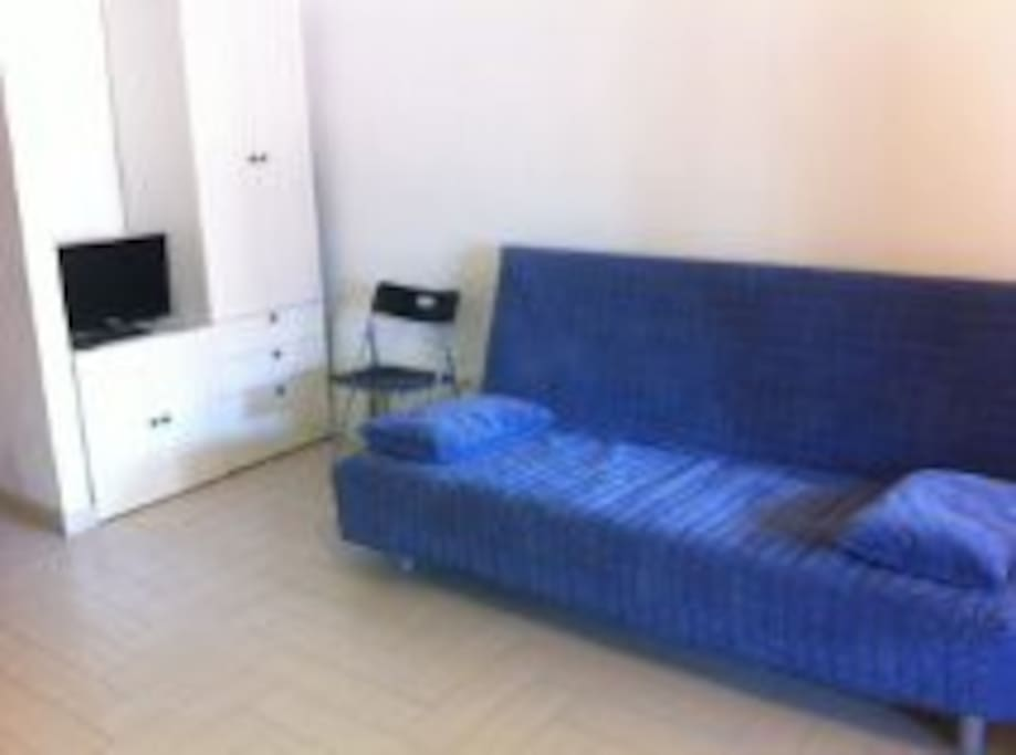 Zona giorno con divano letto