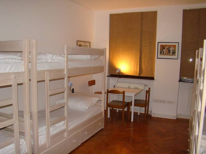 Our comfortable bedroom with 8 beds