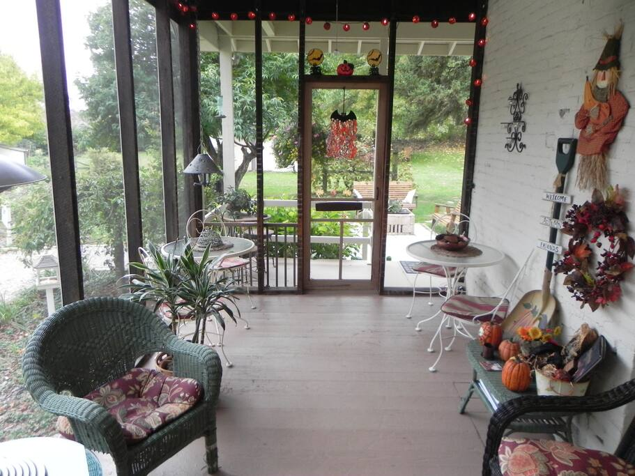 The Screen Porch, a great place to have breakfast or morning coffee.