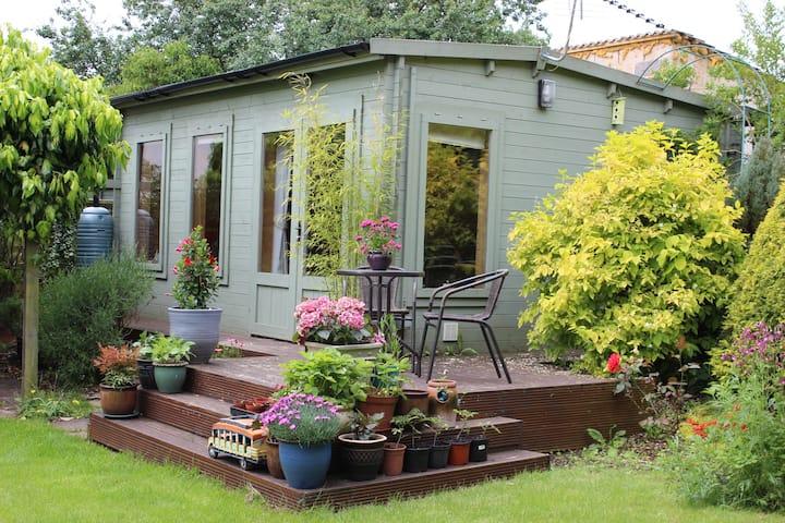 Beautiful, socially distanced garden cabin