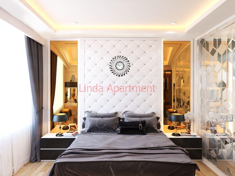 the luxury bedroom