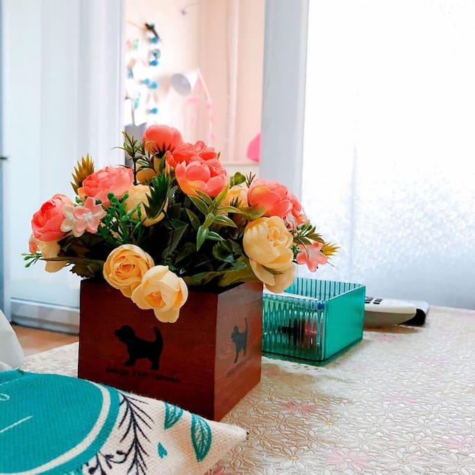 客厅的花花