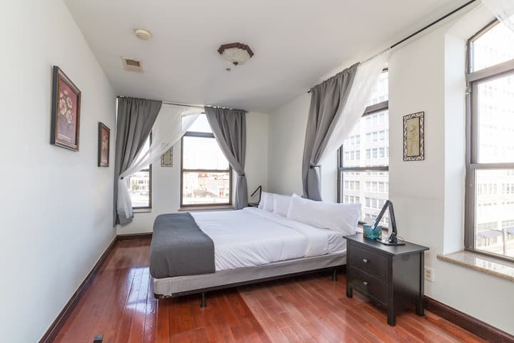 King Suite Convt.center w/View, Ideal forLongStay!