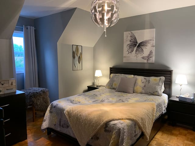 Spacious Cozy home Grey/Blue Room Saint Constant