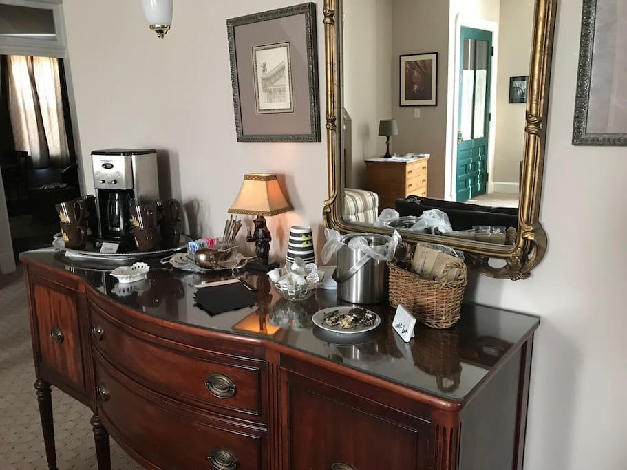 Coffee and Hot Tea service right outside your room