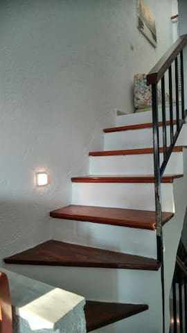 Staircase to bedroom 2
