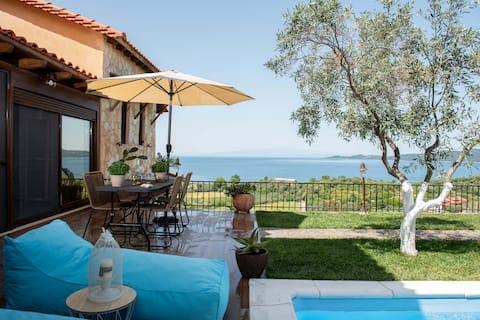 Dandy Villa |Privat pool|Havsutsikt||Parkering|Källare
