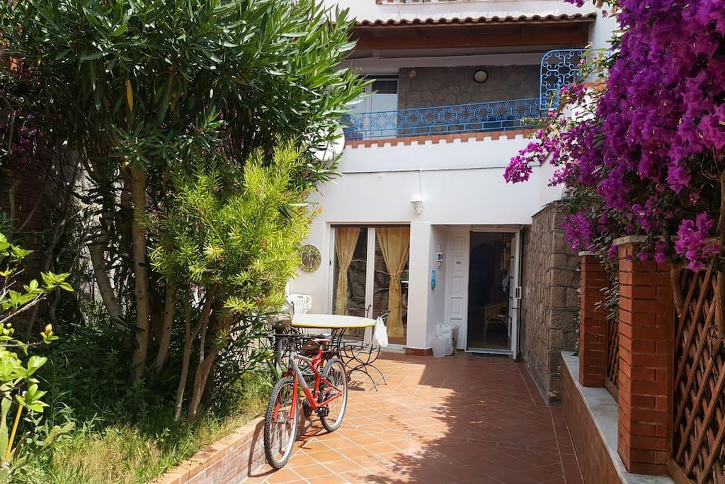 Giardino, vialetto ed ingresso casa