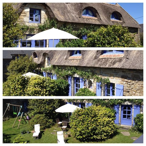 Pont-Aven: thatched-roof house  - Pont-Aven - Huis