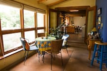 Sunroom Entrance and Breakfast Spot. Kitchen beyond...