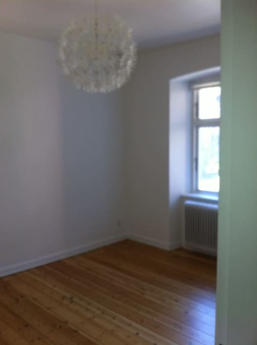 Picture taken before the room was furnished