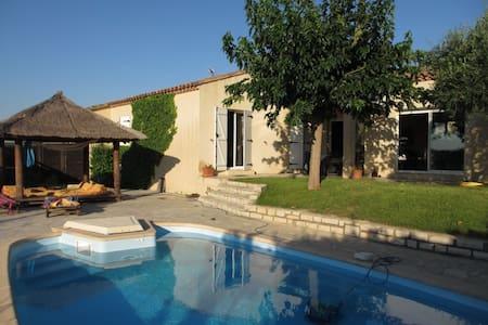 Villa avec pailotte piscine et vue  - Beaulieu