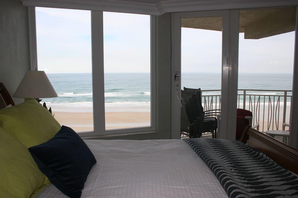 Master Bedroom with beach balcony access