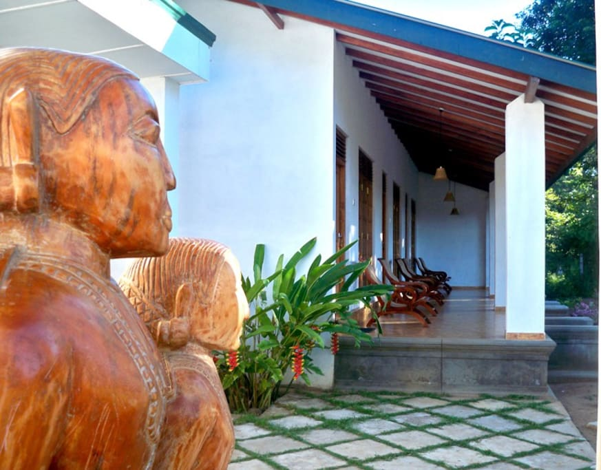 The outer view of the villa Le Grand Meaulnes - Family Hotel is an ideal place of stay for travelers seeking charm, comfort and convenience in Habarana.