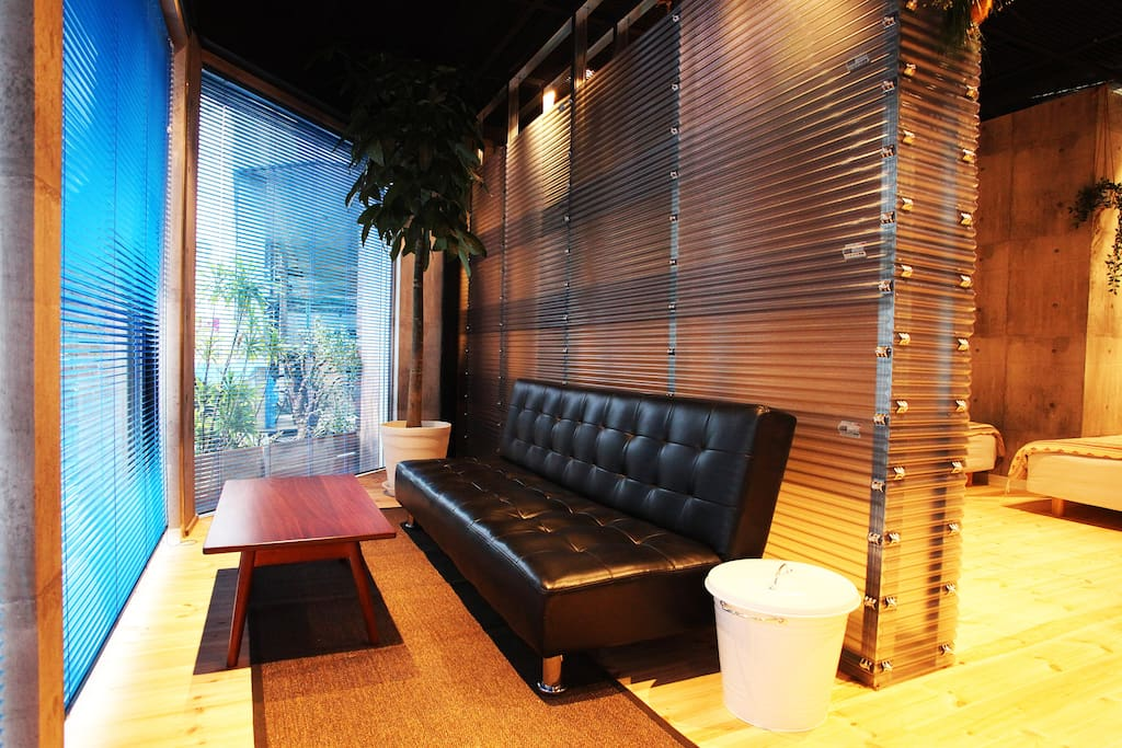Sofa beside window