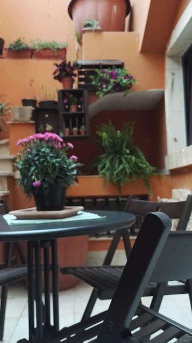 verandina privata per le vostre colazioni e pranzi in tranquillità