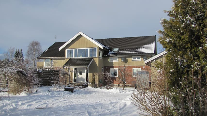 The house at wintertime. Oubs.. It's painted black at the time...