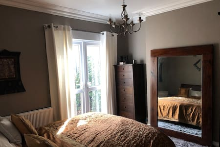 Large private bedroom -Victorian period property.