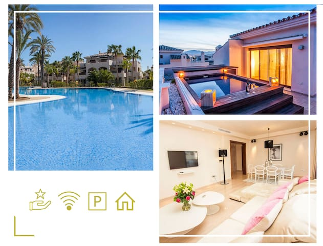 300sqm Penthouse/HEATED Private Swimming pool/BBQ