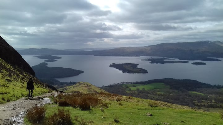 View from top of Conic Hill