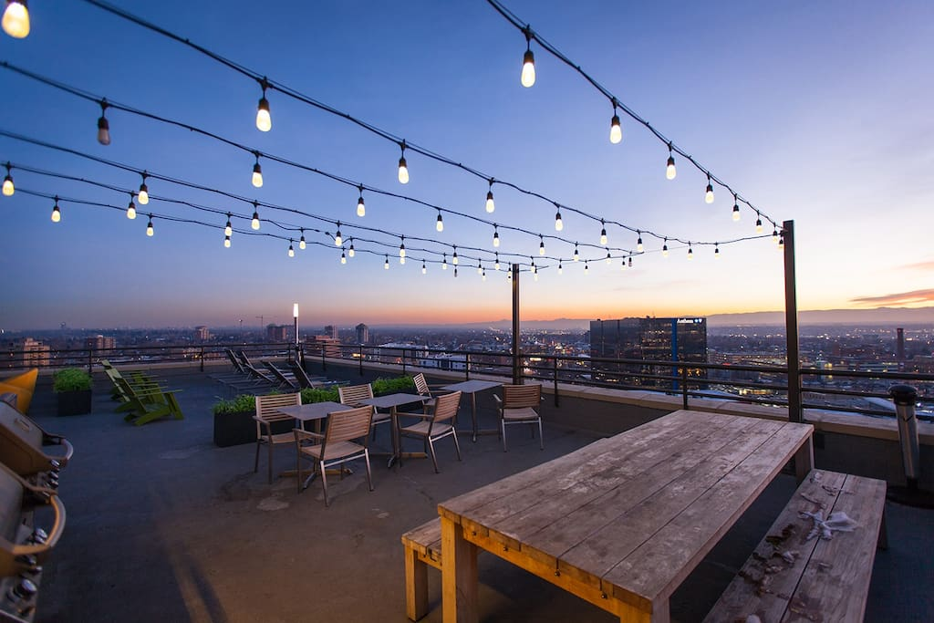 Shared Rooftop At Night- Full Access to the Rooftop