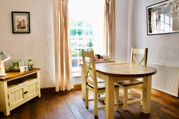 Your private sitting room – and that table is very Scrabble-friendly