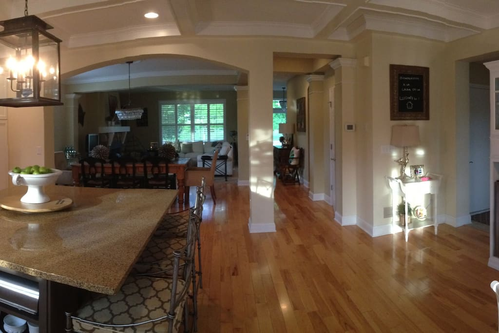 Main floor dining and family room