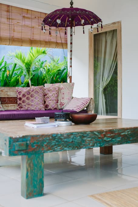 Typical Balinese wood furnished
