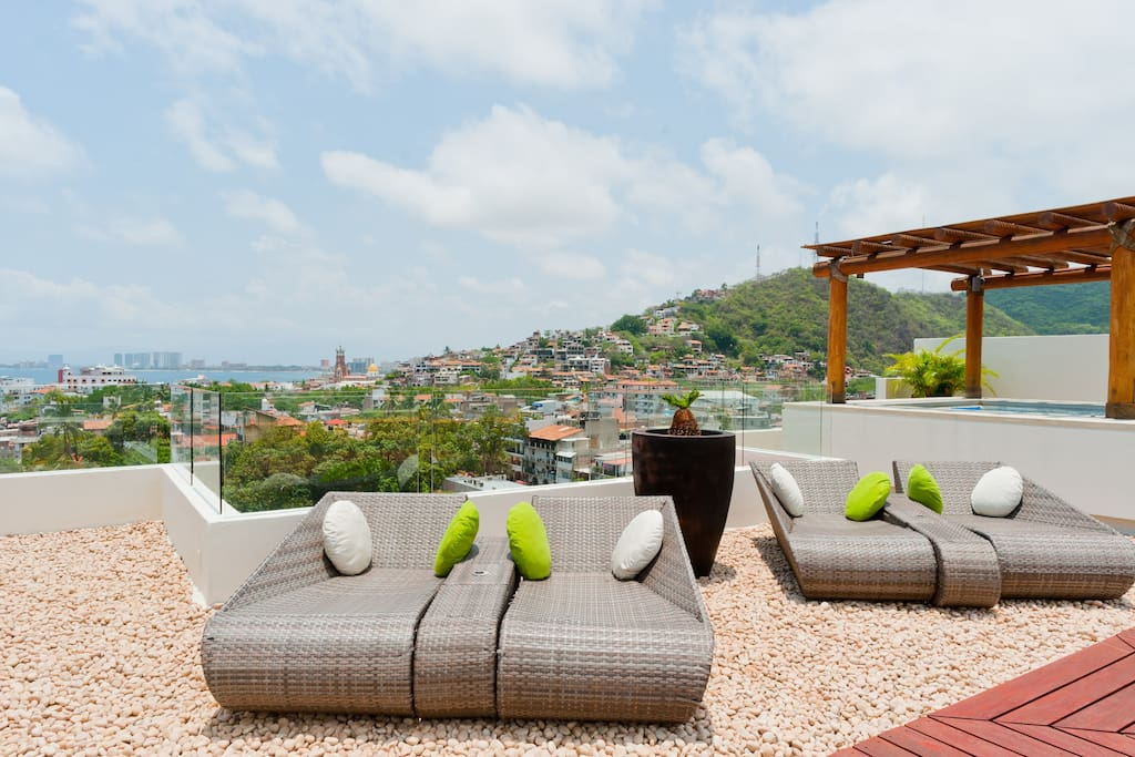 Rooftop communal terrace