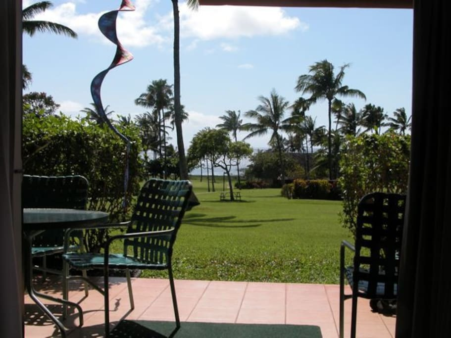 Ocean view and short stroll to the beach right from the ground floor condo.