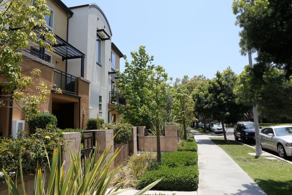 side walk in front of unit