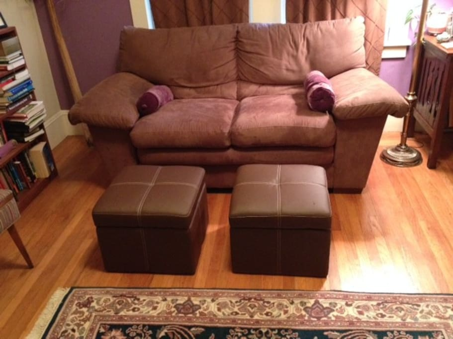 Comfy couch in living room