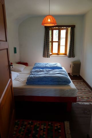 1st bedroom with double single bed