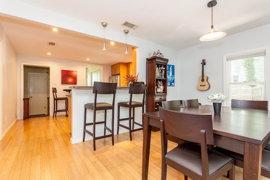 Spacious dining room available for entertaining