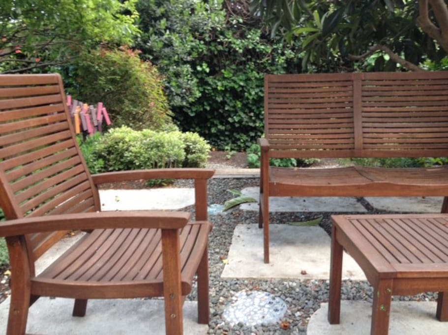 Private backyard garden