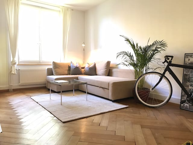 Vintage Apt. with -STYLE-. 6 Min from Bern Center