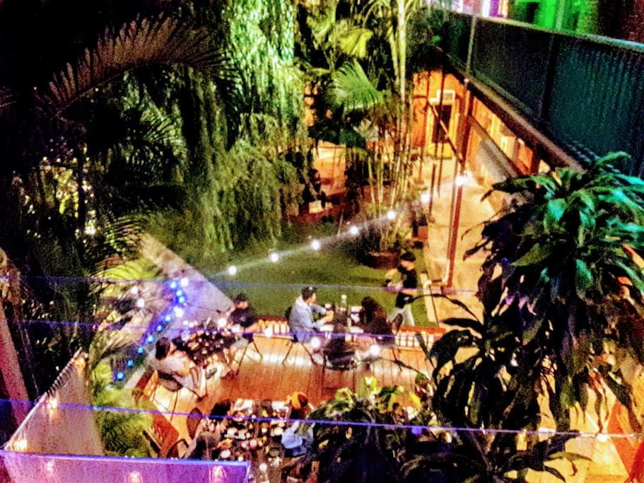 Amazing Private Courtyard on Main Level, with 6 Choices of Ethnic Cuisines