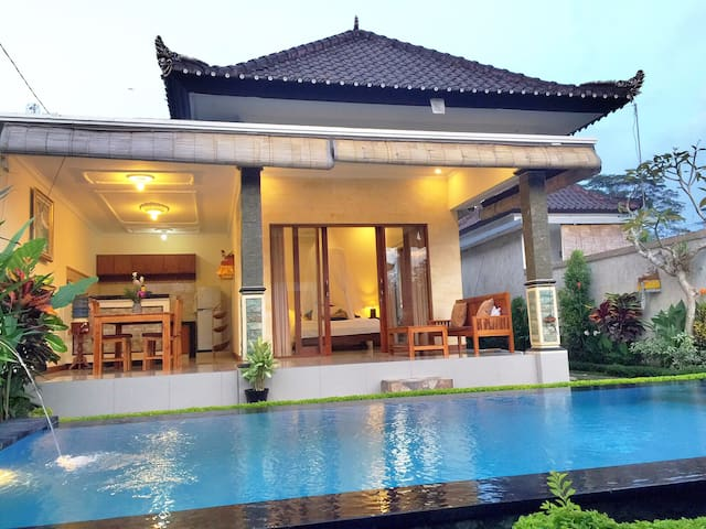 Okioka Villa with private pool in rice fields ubud